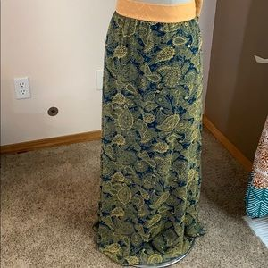 LuLaRoe floor length skirt 2XL